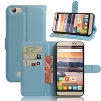 Wallet PU kožené puzdro na Cubot Note S - modré