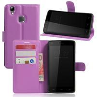 Wallet PU kožené puzdro na Doogee X5 Max/X5 Max Pro - fialové