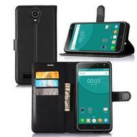 Wallet PU kožené puzdro na Doogee X7/X7 Pro - čierne