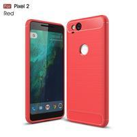 Carbon odolný gelový obal na Google Pixel 2 - červený