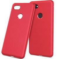 Twill gélový obal s textúrou pre Google Pixel 3 XL - červený