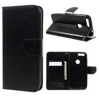 Wallet PU kožené puzdro na mobil Google Pixel XL - čierne
