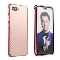 All plastový kryt s hliníkovým zadným dielom na mobil Honor 10 - ružovozlatý