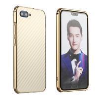 All plastový kryt s hliníkovým zadným dielom na mobil Honor 10 - zlatý