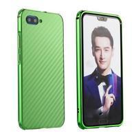All plastový kryt s hliníkovým zadným dielom na mobil Honor 10 - zelený