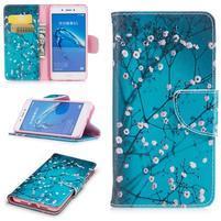 Emotive peňaženkové puzdro pre mobil Huawei Nova Smart - kvetoucí vetve