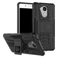 Outdoor odolný obal zo stojanom pre mobil Huawei Nova Smart - čierny