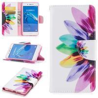 Emotive peňaženkové puzdro pre mobil Huawei Nova Smart - barevný kvet