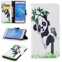 Patty peňaženkové puzdro na Honor 6C - panda na bambuse