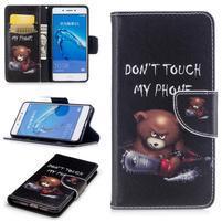 Emotive peňaženkové puzdro pre mobil Huawei Nova Smart - nešahat