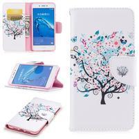 Emotive peňaženkové puzdro pre mobil Huawei Nova Smart - kvetinový strom