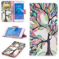 Emotive peňaženkové puzdro pre mobil Huawei Nova Smart - malovaný strom