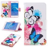 Emotive peňaženkové puzdro pre mobil Huawei Nova Smart - motýľci
