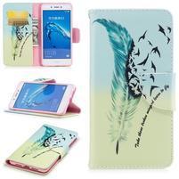 Emotive peňaženkové puzdro pre mobil Huawei Nova Smart - pierko