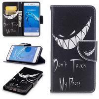Emotive peňaženkové puzdro pre mobil Huawei Nova Smart - nedotýkat se