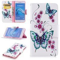 Patty peňaženkové puzdro na Honor 6C - motýlkiky