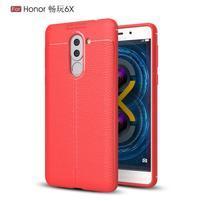 Litch odolný obal s texturovaným zadným dielom na Honor 6X - červený