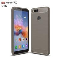 Carbon odolný gélový obal s brúsením na Honor 7X -  sivý