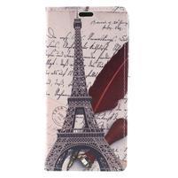 Emotive PU kožené klopové puzdro na Honor 7X -  Eiffelova veža