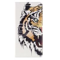 Emotive PU kožené klopové puzdro na Honor 7X -  tiger