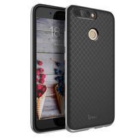 Odolný obal 2v1 na mobil Honor 8 Pro - sivý lem