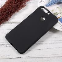 Matný gélový obal na mobil Honor 8 Pro - čierny