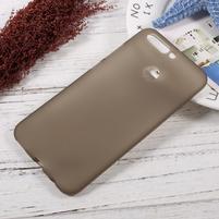 Matný gélový obal na mobil Honor 8 Pro - sivý