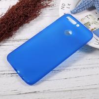 Matný gélový obal na mobil Honor 8 Pro - modrý
