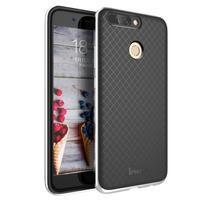 Odolný obal 2v1 na mobil Honor 8 Pro - strieborný lem