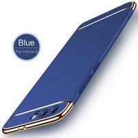 Lux 3v1 odolný plastový obal na Honor 9 - modrý