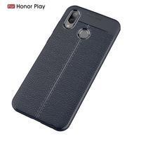 Litchi odolný silikónový kryt na mobil Honor Play - tmavomodrý