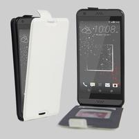 Flipové PU kožené puzdro pre HTC Desire 630 a Desire 530 - biele