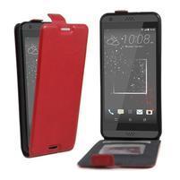 Flipové PU kožené puzdro pre HTC Desire 630 a Desire 530 - červené