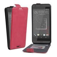 Flipové PU kožené puzdro pre HTC Desire 630 a Desire 530 - rose