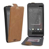 Flipové PU kožené puzdro pre HTC Desire 630 a Desire 530 - hnedé