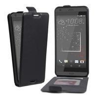 Flipové PU kožené puzdro pre HTC Desire 630 a Desire 530 - čierné