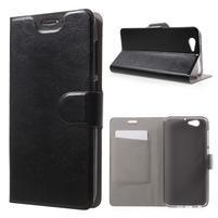 Horse PU kožené puzdro pre mobil HTC One A9s - čierné