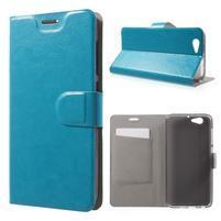 Horse PU kožené puzdro pre mobil HTC One A9s - modré