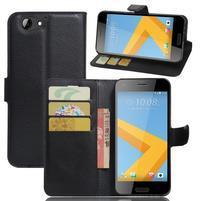 Graines PU kožené puzdro pre HTC One A9s - čierné