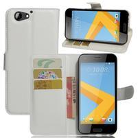 Graines PU kožené puzdro pre HTC One A9s - biele