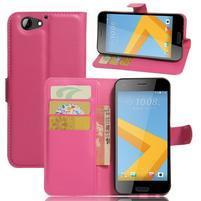 Graines PU kožené puzdro pre HTC One A9s - rose