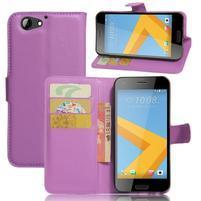 Graines PU kožené puzdro pre HTC One A9s - fialové