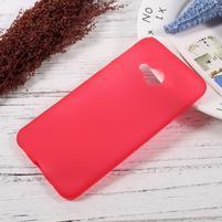 Matný gelový obal na HTC U Play - červený