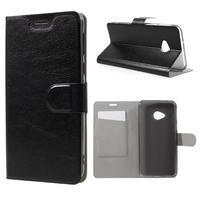 Horse PU kožené puzdro na mobil HTC U Play - čierne