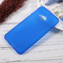 Matný gelový obal na HTC U Play - modrý