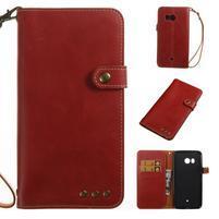 RetroStyle PU kožené puzdro na HTC U11 - červené