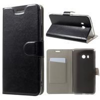 Horse PU kožené zapínacie puzdro na HTC U11 - čierne