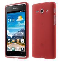 Double matný gélový obal na mobil Huawei Ascend Y530 - červený