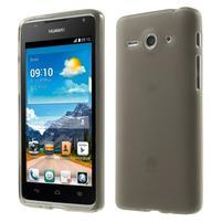 Double matný gélový obal na mobil Huawei Ascend Y530 - sivý