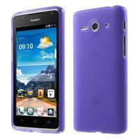 Double matný gélový obal na mobil Huawei Ascend Y530 - fialový